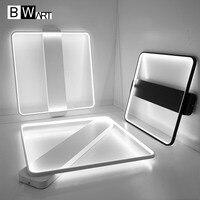 BWART New Arrival Black White Minimalist LED Ceiling light For Living Study Room Bedroom Aluminum Modern Led Ceiling lamp