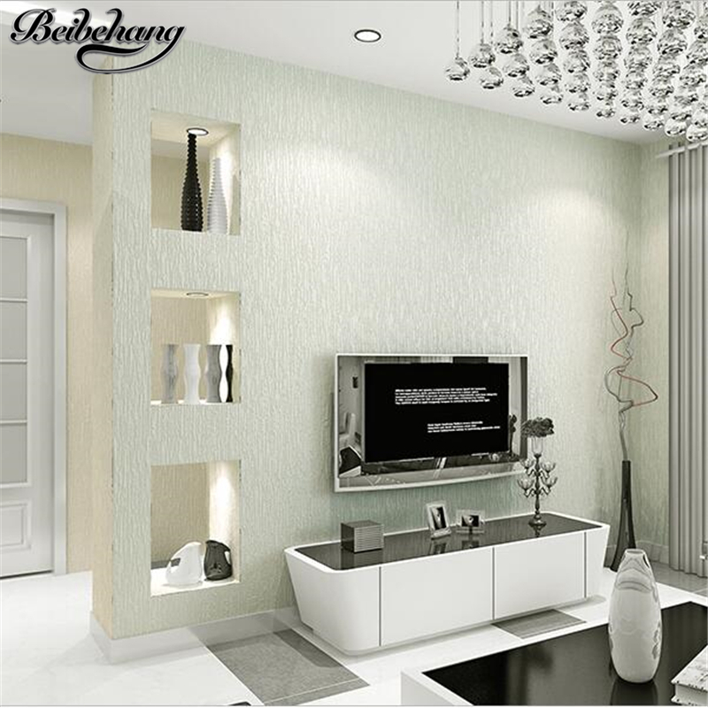 beibehang Modern Simple Wallpaper Plain Living Room Bedroom Wallpaper Full House Background Wall imitation diatom mud wall paper цена