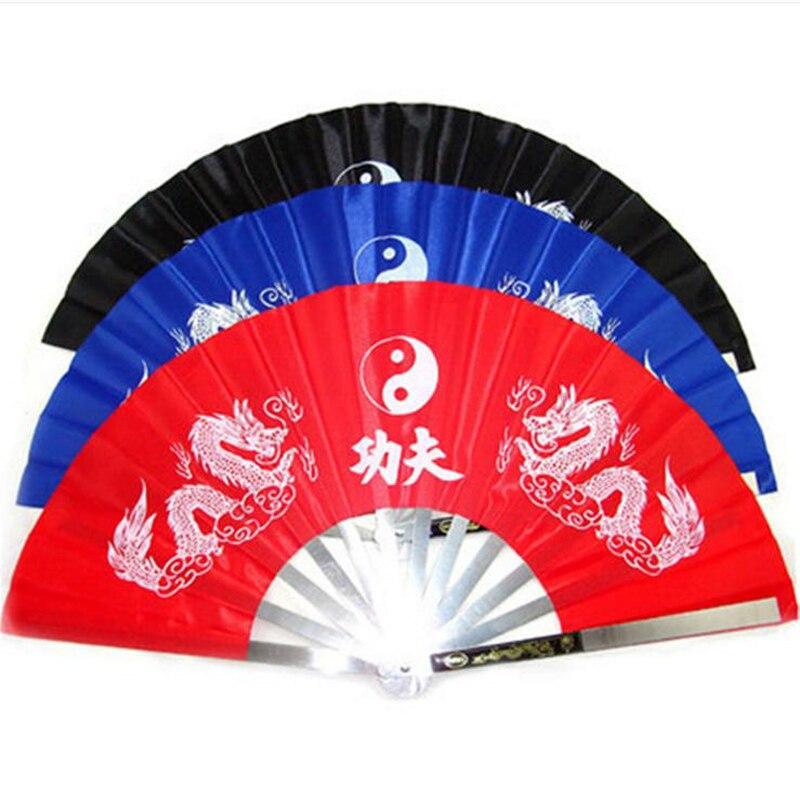 Китайский вентилятор кунг-фу из нержавеющей стали Fram Fan Wushu TaiChi танцевальный веер крыло Chun в китайском ретро-стиле боевое искусство инструмент фитнес-тело