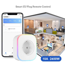 Smart Mini WiFi Plug EU Phone Remote Control Smart Switch Socket for IOS Android Phone with Amazon Alexa Google Assistant Switch wifi mini smart socket us plug remote control amazon alexa power strip timing switch for ios android smartphone tablet ds35