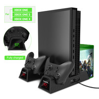OIVO Cooling Vertical Stand Dual Controller Charger Charging Station with 2PACK 600mAh Batteries for Xbox ONE/S/X Game Console