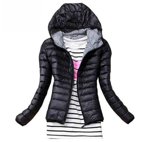 Autumn Winter Women   Basic     Jacket   Coat Female Slim Hooded Brand Cotton Coats Casual Black   Jackets
