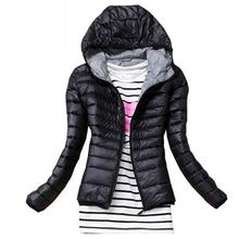 Autumn Winter Women Basic Jacket Coat Female Slim Hooded Bra