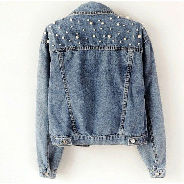 Beading Short Denim Jackets For Women  1