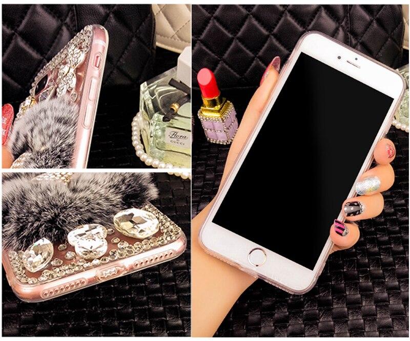 YESPURE Fancy Fox Fur Phone Cover för Iphone 6 6s Luxury Women - Reservdelar och tillbehör för mobiltelefoner - Foto 6