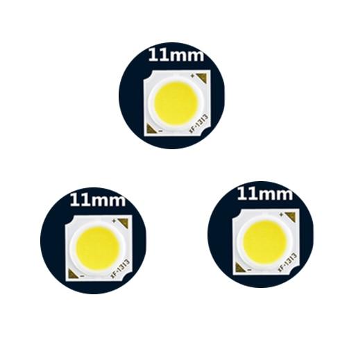 5Pcs Squared SMD 11mm COB White Light LED Lighting Source Beads For Track Light Spotlight 3W/5W/7W/10W/12w/15W/18W