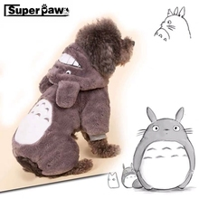Cartoon Autumn Winter Warm Dog Clothes Totoro Cute Pet Papillon Coat Jacket For Small Dogs Chihuahua Yorkshire Clothing GGC19