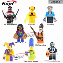Single Sale Super Heroes Marge Simpson Aurra Sing Voltron Team Godmars The Flash Joker Building Blocks Children Gift Toys KF8005(China)