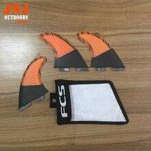 Half carbon fiber standard surfboard surf table fins FCS II G5 M fin with strong bag