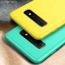 YHBBCASES For Samsung Galaxy S10 Plus Couples Solid Color Soft Case S10e Mixture Wheat Straw Silicone Phone Cover