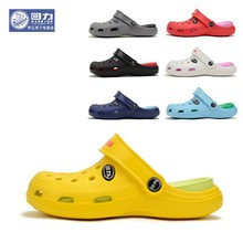 –New authentic women hole slippers couple sandals mules and clogs garden shoes for women breathable beach shoes