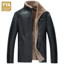 Sheepskin Genuine Leather Coat Slim Real Shearling Jackets Men Wool Liner Collar Warm