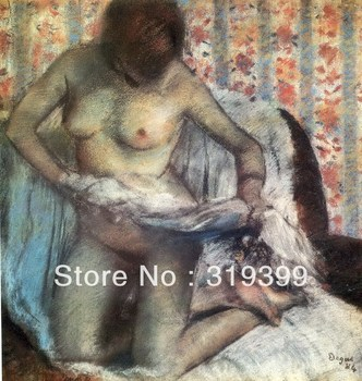 Oil Painting Reproduction on Linen Canvas,after the bath 1884 by edgar degas,Free DHL Shipping,handmade,Top Quality oil painting