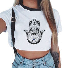 Ulzzang Harajuku Fashion T-shirt Women Short Sleeve Crop Top Clothes Tumblr Owl Print O-Neck Tshirt Woman Tops Casual Tees Femme(China)