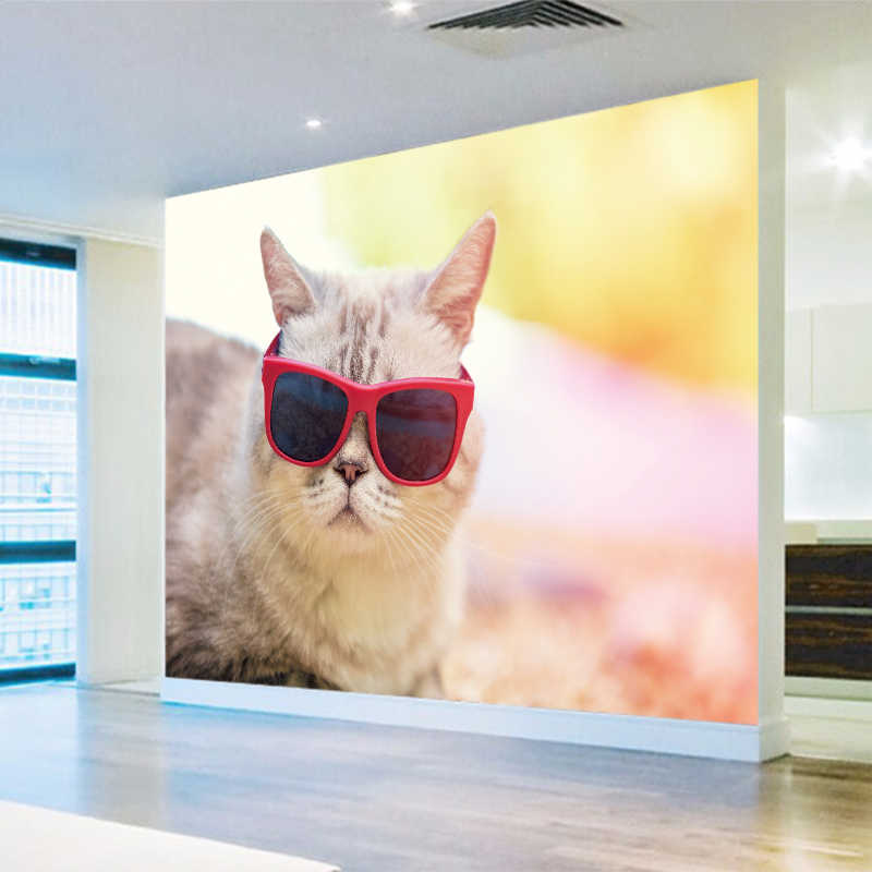3d Effect Photo Wallpaper Hd Beautiful Cute Cat Photography Close Tv Background Wall Living Room Wallpaper Lobby Mural Ybz222 Aliexpress