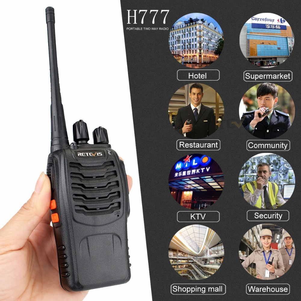 10pcs Portable Two Way Radio Walkie Talkie Retevis H777 Hotel Restaurant Radio 3W UHF Flashlight USB Charging Walkie Talkies Set in Walkie Talkie from Cellphones Telecommunications