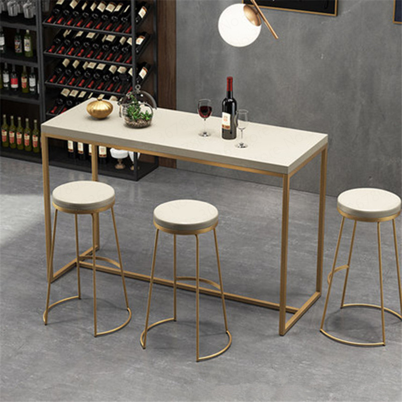 Nordic Golden Bar Stool Modern Minimalist Iron Front Desk High Stool  Bar Stools For Home Counter Stool
