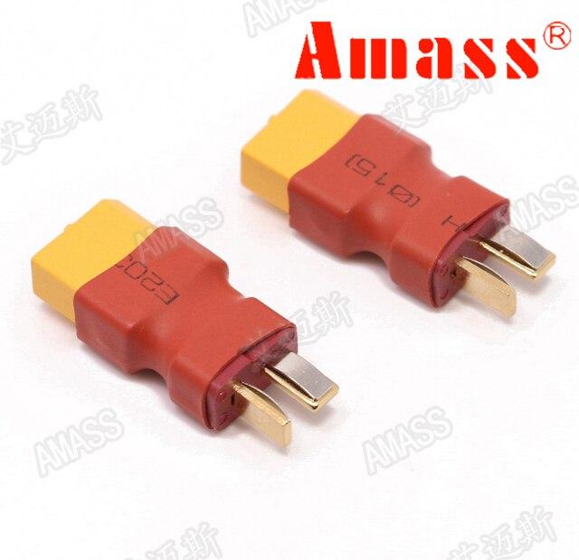 Conector de transferencia macho Amass XT60 hembra a T conector ADP020 para RC modelo RC batería de avión ESC