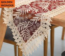 European Style Luxury Elegant Embroidery Red Table Runners Beautiful Home Decoration High Quality Made in China