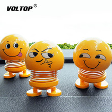 Nod Dolls Car Ornaments Decoration Accessories Interior Dashboard Pendant  Funny Emoji Shaking Head Toys