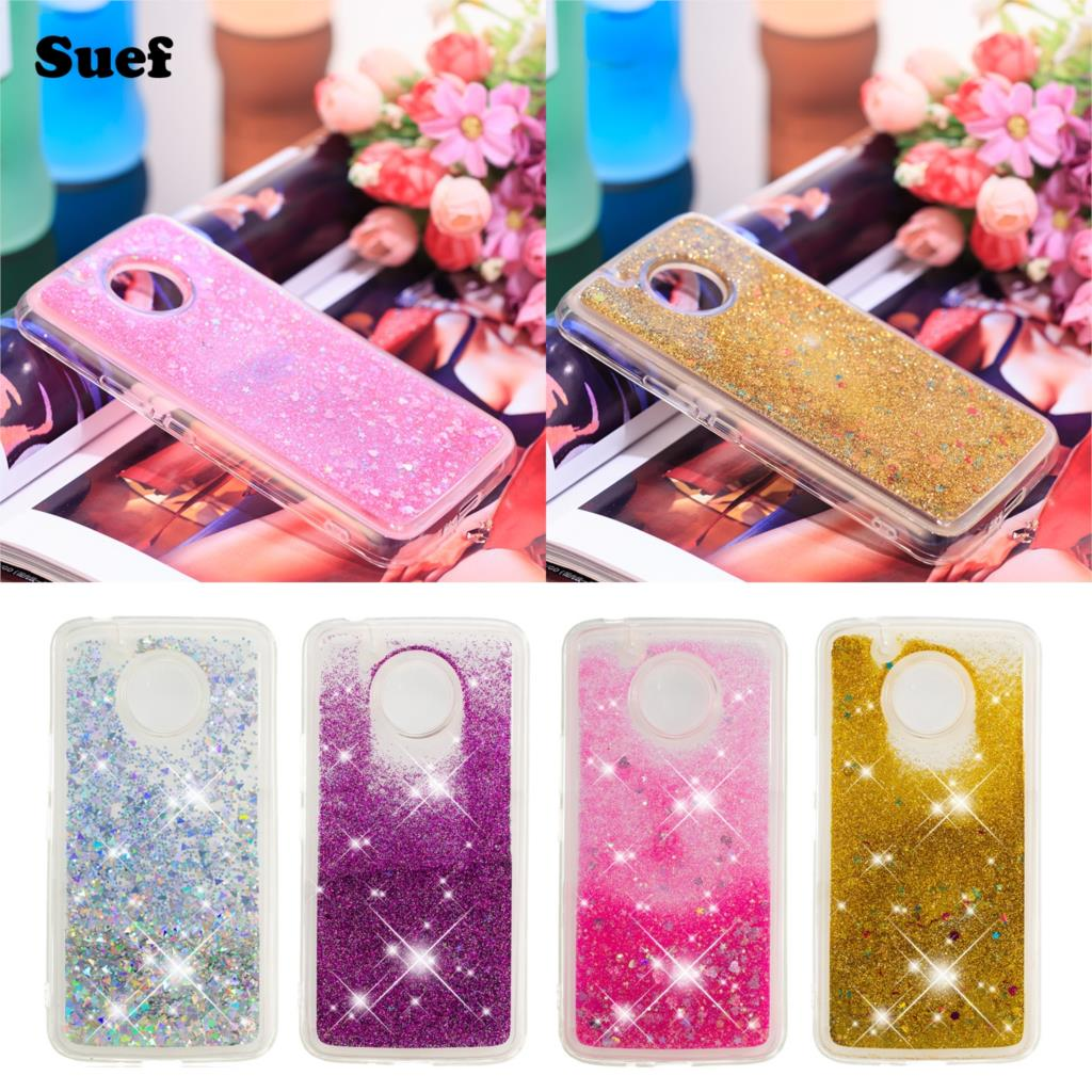 For Moto E4 Cases Us Version Fashion Glitter Bling Quicksand Water Sand Soft Case Cover For Motorola Moto 4th Gen Liquid Case Phone Bags & Cases