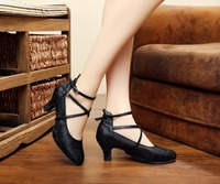 New Sexy Ballroom Salsa Dance Shoes Modern Laies Pumps 5 5cm Med Heel Dancing Shoes