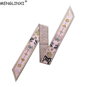 MENGLINXI Print Silk Scarf Women Female Head Scarves Wraps