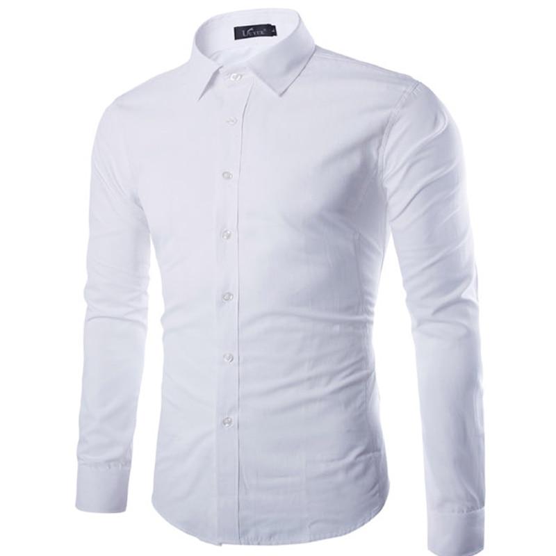 Brand white men shirt long sleeve chemise homme 2016 for Good mens dress shirts