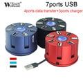 7 порта usb hub зарядное устройство 2.0 хаб 4 портов с 3 портами usb автомобиля зарядное устройство splitter для Портативных ПК Камера Мыши Tablet Жесткий Диск со светодиодной