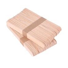 50 шт./лот, палочки для Фруктового мороженого, деревянные палочки для торта из натурального дерева, инструменты для детского творчества ручной работы