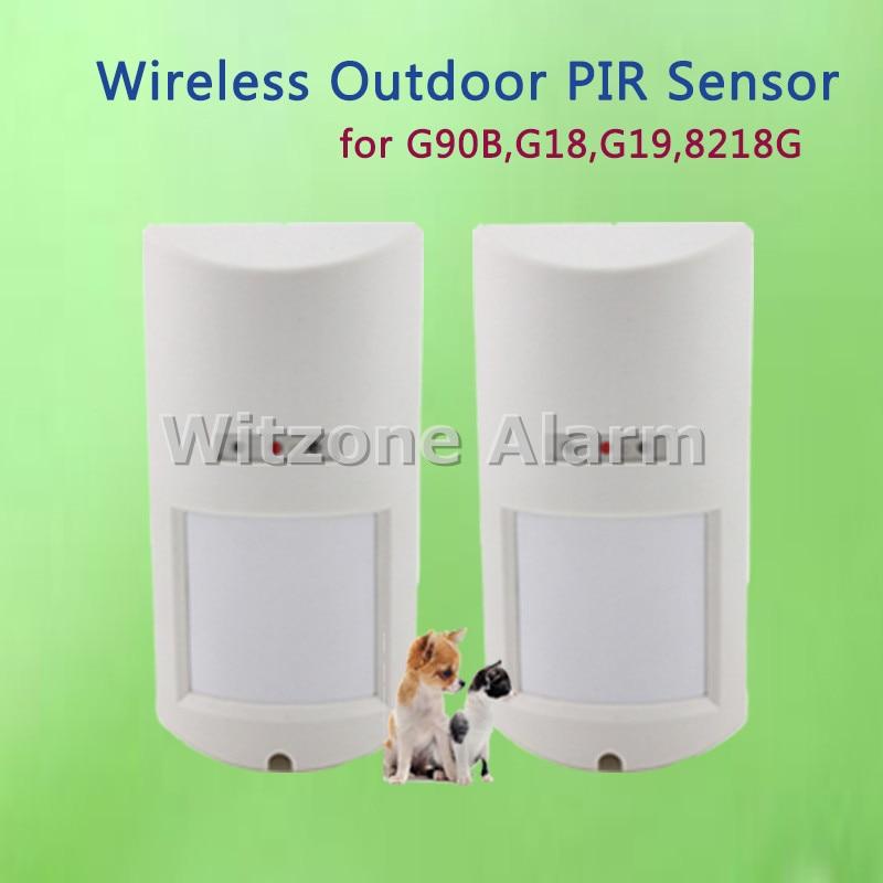 2pcs 433MHz EV1527 Outdoor Waterproof Pet PIR Motion Detector Alarm Sensor for WIFI Alarm G90B,M2FX,Kerui G18,G19,8218G,W1,W2, outdoor wireless motion sensor pet immune pir detector for golden security wifi gsm gprs alarm system for kerui 8218g g2 433mhz