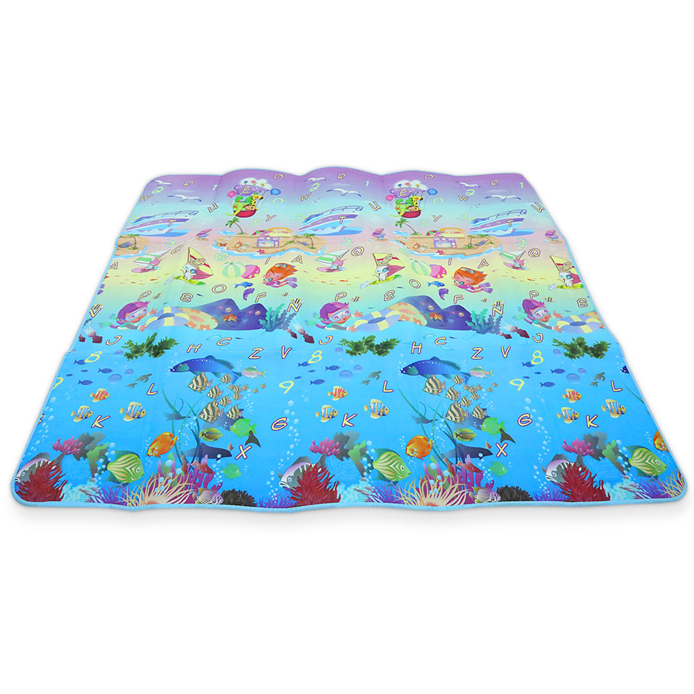 Maboshi 200 x 180cm Play Crawling Mat Baby Kids Double-sided Soft Foam Toddler Blanket Carpet Rugs Playmat Rug Goma Eva Foam actionclub 0 2year baby toy baby play mat game boys girls educational crawling mat play gym kids blanket carpet