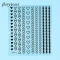 1 unid 3D Etiqueta Engomada Del Clavo de Oro Negro Dulce Corazón Etiqueta Engomada Del Clavo Decal Sticker Mujeres Etiqueta Engomada Del Clavo Herramienta de Manicura Decoración DP012 vacaciones