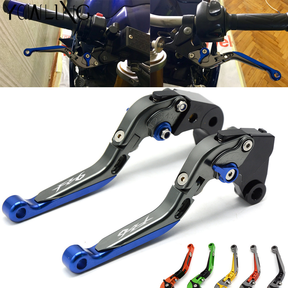 Logo:(FZ6) CNC Adjustable Motorcycle Brake Clutch Levers For Yamaha FZ6 FAZER FZ6 FZ 6 R  2004-2010 2005 2006 2007 2008 2009 billet adjustable long folding brake clutch levers for kawasaki z750 z 750 2007 2008 2009 2010 2011 07 11 z800 z 800 2013 2014