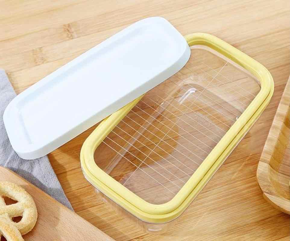 زبدة مربع زبدة مربع الجبن قطع هش مختومة مستطيلة صندوق تخزين الخبز أداة