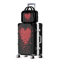 PC luggage spinner wheels carry ons trolley suitcase men women boarding fashion bag 202428 inch convenient trolley case