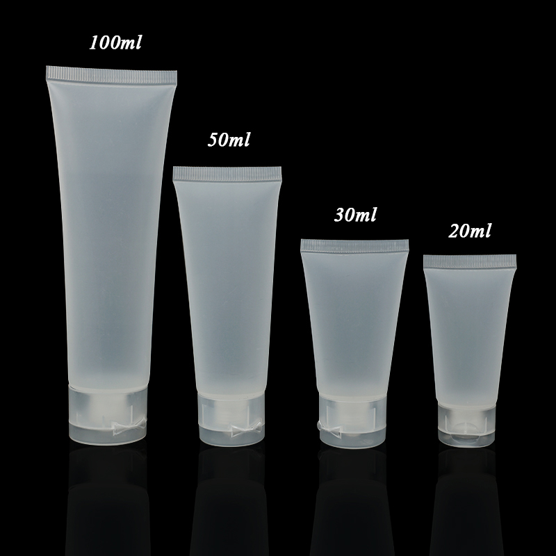 Stouge 4PCS Empty Tubes Cosmetic Cream Travel Refillable Lotion Containers Bottles One Set For 20ml/ 30ml/ 50ml/ 100ml