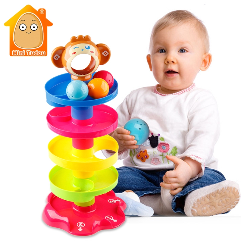 Kids Rolling Ball Drop Toy for Babies Toddlers 5 Layer