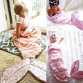 US STOCK Mermaid Tail Sofa Blanket Super Soft Warm Costume  Baby Kids Sleep Bag