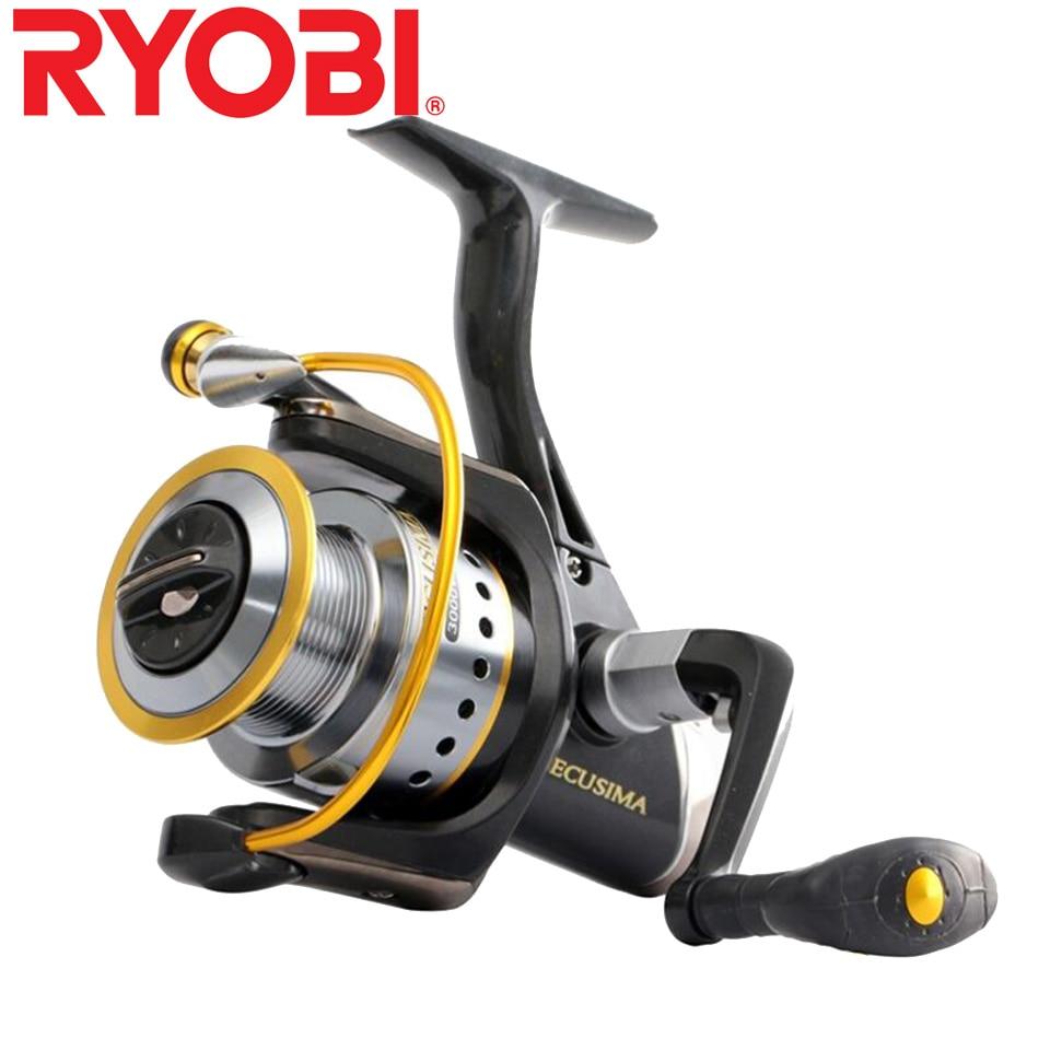 RYOBI Fishing Reel ECUSIMA Fishing Reel Spinning Reel 4+1 Bearings 5.0:1/5.1:1 Ratio 2.5KG-8KG Power Japan Reels Aluminum Spool