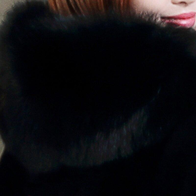 Couleur Lâche À Femelle Manteau Black Solide Femmes S607 D'hiver De Capuchon Fourrure Chaud Mode Fausse Taille Grande Nouvelle Court En RqTaAna