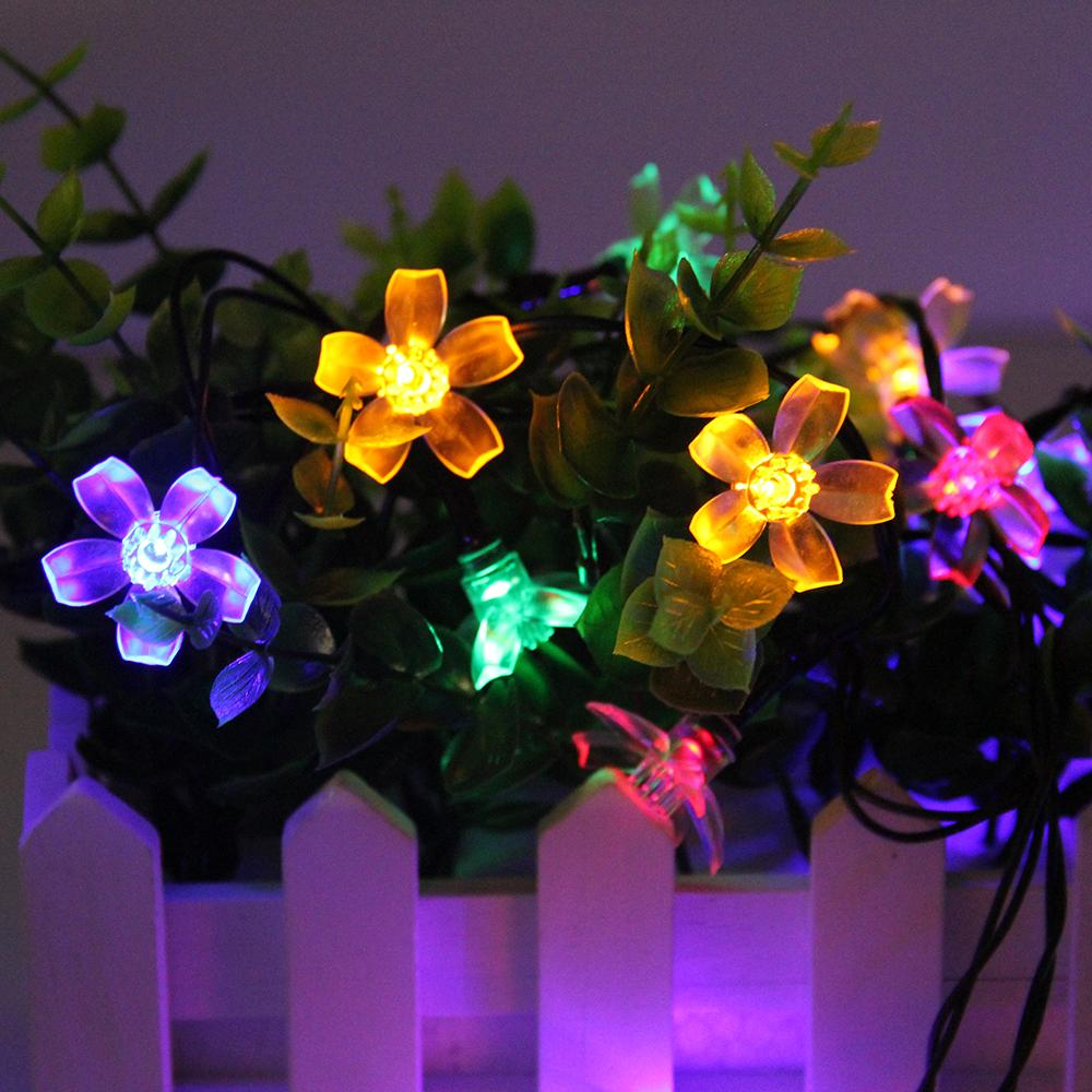 4 Shapes LED Solar Fairy Lights Waterproof Garland String Light Chain Gerlyanda For Christmas Outdoor Garden Decoration