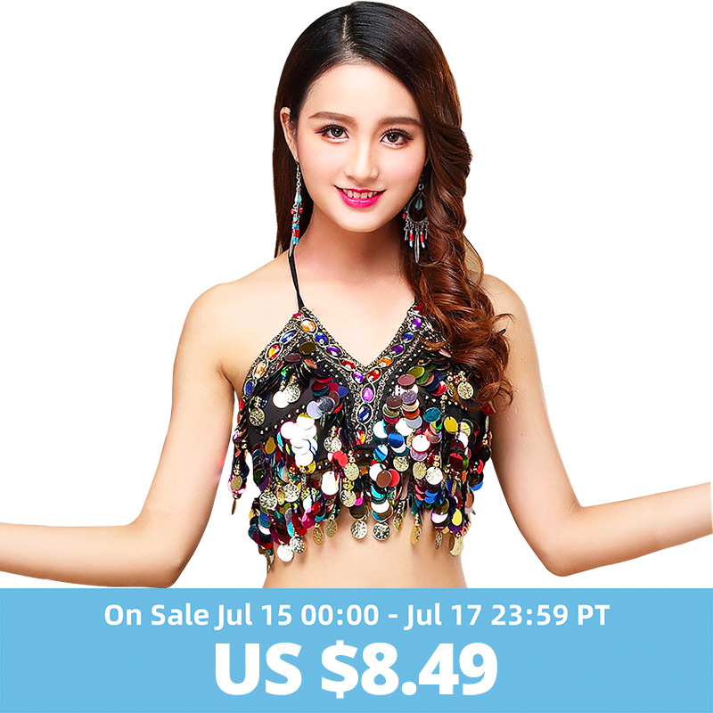 2018 New Belly Dance Performance Bra People Sleeveless Suit - Night Shirt Accessories For Women Dancing Belly Dance Bra Top