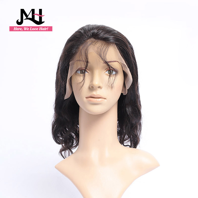 Lace Front Human Hair Wigs For Black Women Pre Plucked With Full Frontal Baby Hair Remy Brazilian Hair Bodywave  Bob Wig