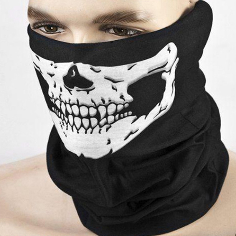 buffe Motorcycle Skull Mask Face Shield Female Male Cycling Bandana Multi Use Headband Neck Warmer Magic Fishing Head Scarf air force skull tubular protective dust mask bandana motorcycle riding polyester scarf face neck warmer mask