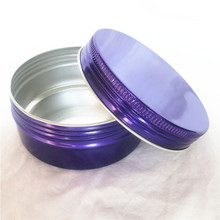 Купить с кэшбэком Candy Color 150ml Round Refillable Cream Jars Aluminum Wax Ointment Bottle DIY Cosmetic Packaing Supplies 50pcs/lot P055