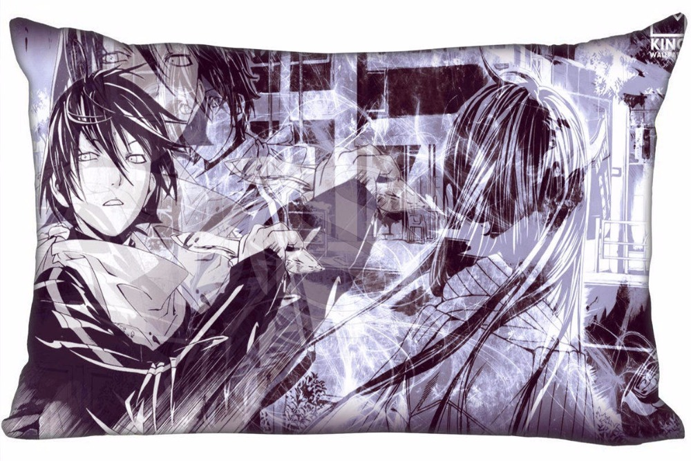 Hot Sale Noragami Pillowcase Custom Zippered Rectangle Pillow Cover Cases Size 50x75cm (Two sides) WT#905&pa36