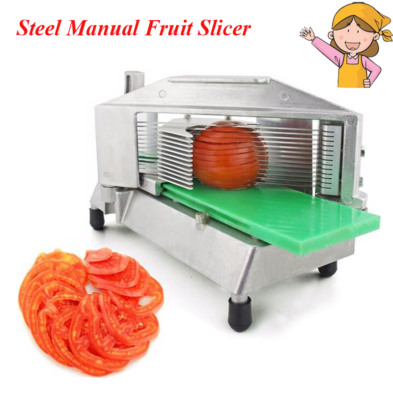 1pc Stainless Steel Manual Slicer Tomato Fruits and Vegetable Chopper Cutting Machine Fruit and Vegetable Food Cutter TS-316 fast food leisure fast food equipment stainless steel gas fryer 3l spanish churro maker machine