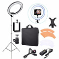 18'' LED Dimmable Photo Video DSLR Camera Light Ring Kit with Tablet Bracket for Phone Camera Make up Ring Light