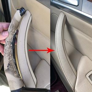 Image 2 - Manija de Panel de puerta Interior derecha e izquierda, cubierta embellecedora de tirar accesorios de Interior de coche para BMW E70 X5 E71 E72 X6 SAV